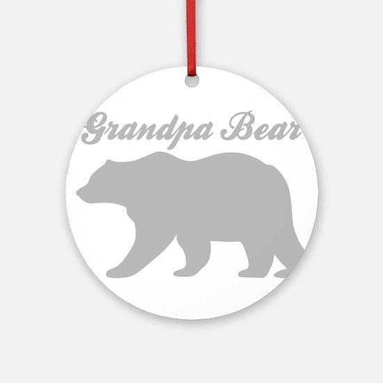 Grandpa Bear Round Ornament