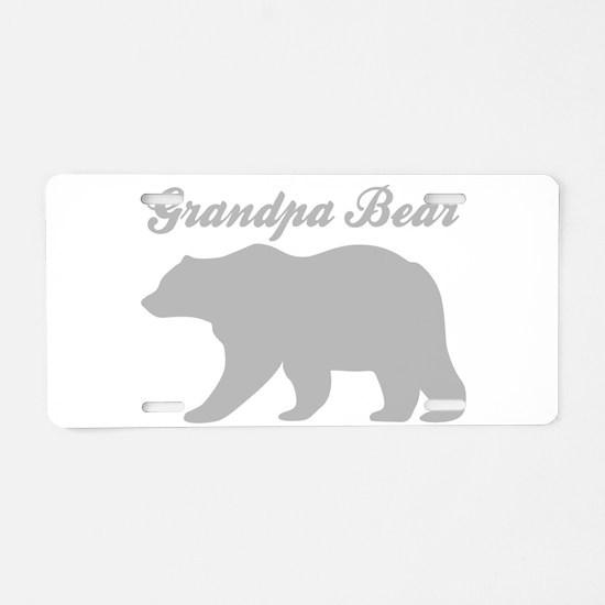 Grandpa Bear Aluminum License Plate