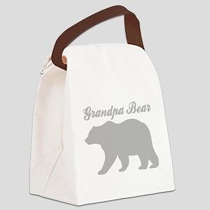 Grandpa Bear Canvas Lunch Bag