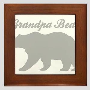 Grandpa Bear Framed Tile