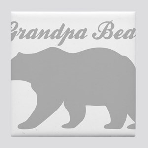 Grandpa Bear Tile Coaster