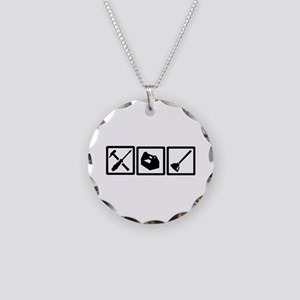 Janitor tools Necklace Circle Charm