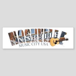 Nashville Music City-02 Sticker (Bumper)