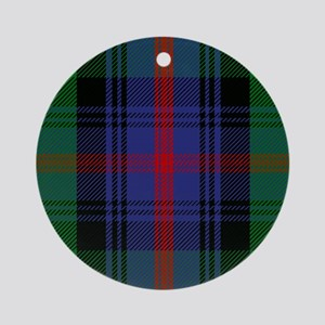 Sutherland Scottish Tartan Round Ornament