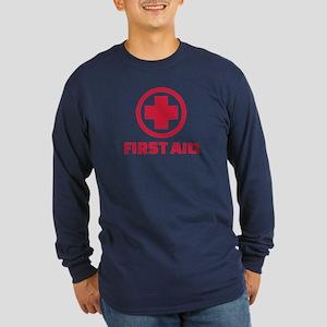 First aid Long Sleeve Dark T-Shirt