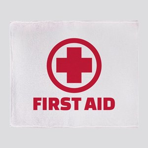 First aid Throw Blanket