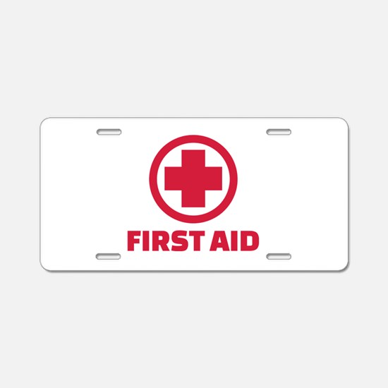 First aid Aluminum License Plate