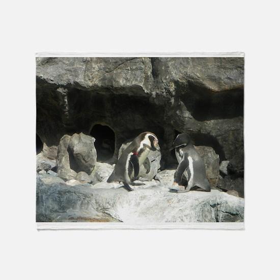 Penguins Throw Blanket