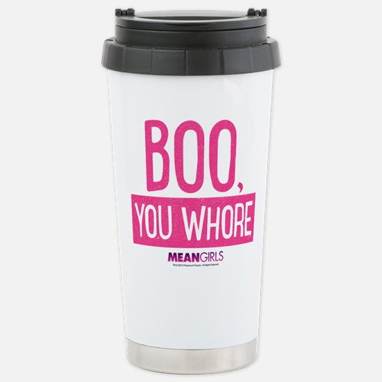 Mean Girls - Boo, You W Stainless Steel Travel Mug