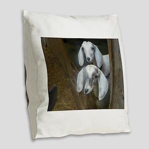Dynamic Duo Burlap Throw Pillow