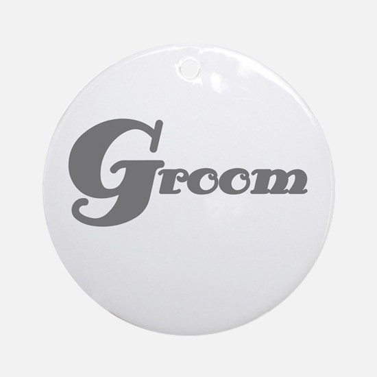 Gray Groom Ornament (Round)