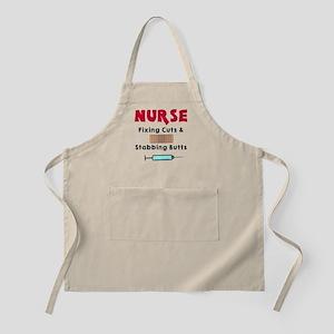 Nurse fixing cuts stabbing butts Apron