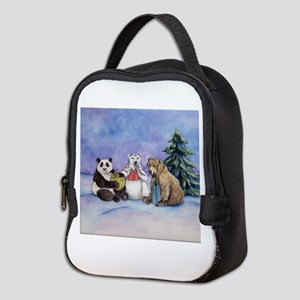 Holiday Bears Art Neoprene Lunch Bag