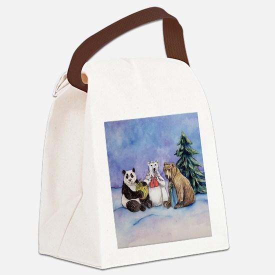 Holiday Bears Art Canvas Lunch Bag