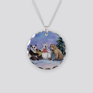 Holiday Bears Art Necklace