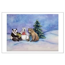 Holiday Bears Art Posters