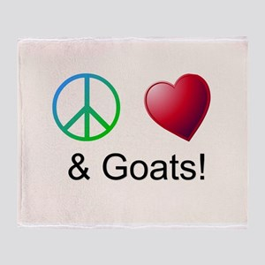 Oeace Love Goats Throw Blanket
