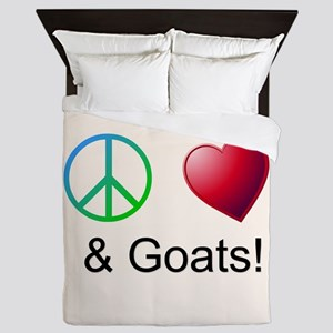 Oeace Love Goats Queen Duvet
