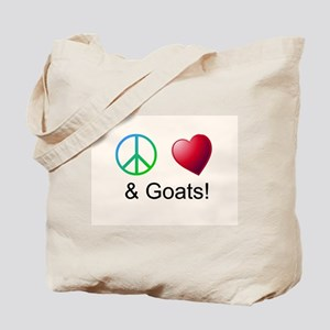 Oeace Love Goats Tote Bag