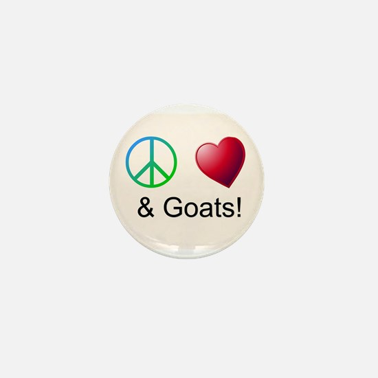 Oeace Love Goats Mini Button
