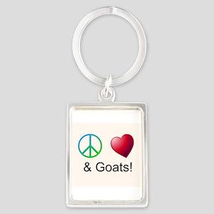 Oeace Love Goats Keychains