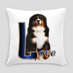 Love Bernese Darks Everyday Pillow
