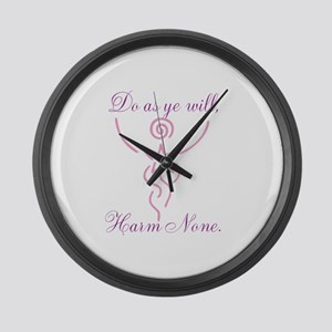 Do as Ye Will Large Wall Clock