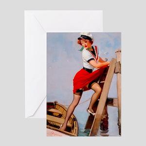 Pin Up: Sailor ! Greeting Card