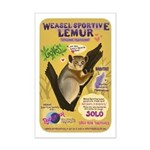 Weasel Sportive Lemur - Small Mini Poster Print