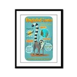 Ringtailed Lemur Framed Panel Print