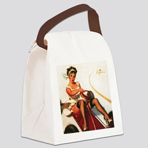 Pin Up: Motor Vehicle ! Canvas Lunch Bag