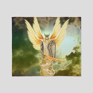 Holy Warrior Angel Throw Blanket