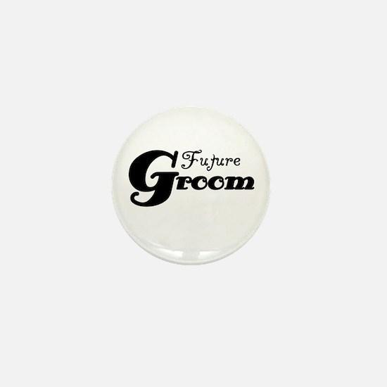 Future Groom Black Mini Button