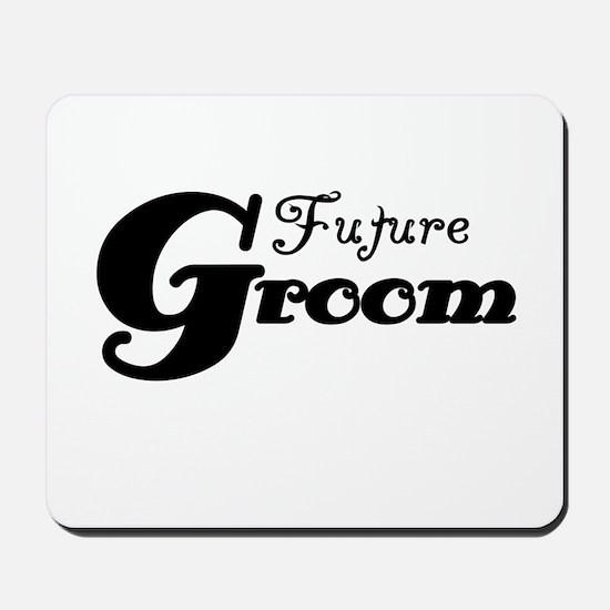 Future Groom Black Mousepad