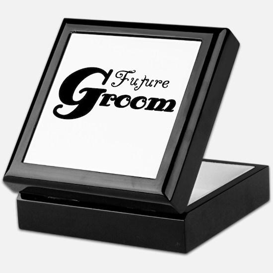 Future Groom Black Keepsake Box