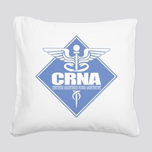 CRNA (b)(diamond) Square Canvas Pillow