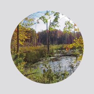 Lush Pond Scereny Round Ornament