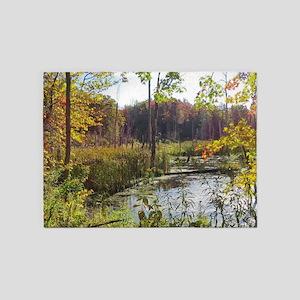 Lush Pond Scereny 5'x7'Area Rug