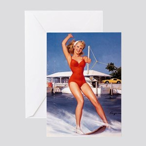 Pin Up: Bathing Suit ! Greeting Card