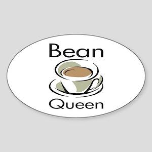 Bean Queen Oval Sticker