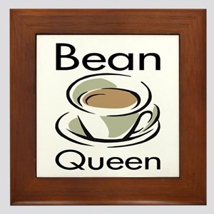 Bean Queen Framed Tile