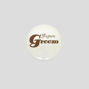 Future Groom Brown Mini Button
