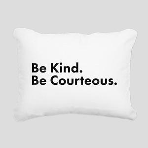 Be Kind Rectangular Canvas Pillow