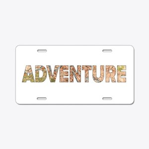 Adventure Aluminum License Plate
