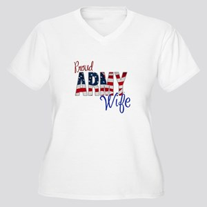 Proud Patriotic Army Wife Plus Size T-Shirt