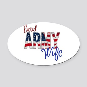 Proud Patriotic Army Wife Oval Car Magnet