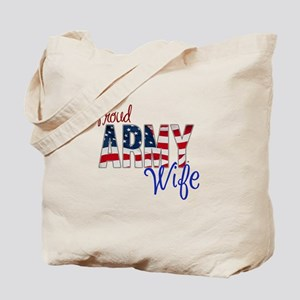 Proud Patriotic Army Wife Tote Bag