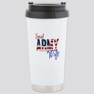 Proud Patriotic Army Wife Travel Mug