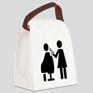 Hairdresser symbol Canvas Lunch Bag