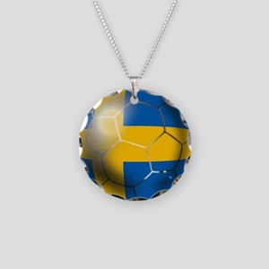 Sweden Soccer Ball Necklace Circle Charm